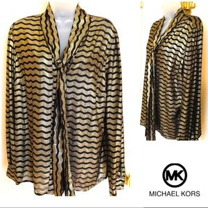 Gold Black Top Michael KORS Glam & Gorgeous!